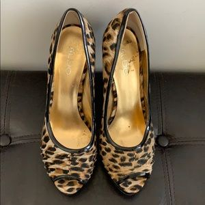 Cheetah print Aldo heels